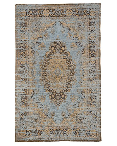 NaturalAreaRugs Andorra Vintage Turkish Polyester Cotton Rug, Traditional, Durable, Non-Slip Latex Backing, Eco-Friendly, Multi Color (6 Feet X 9 Feet) Review