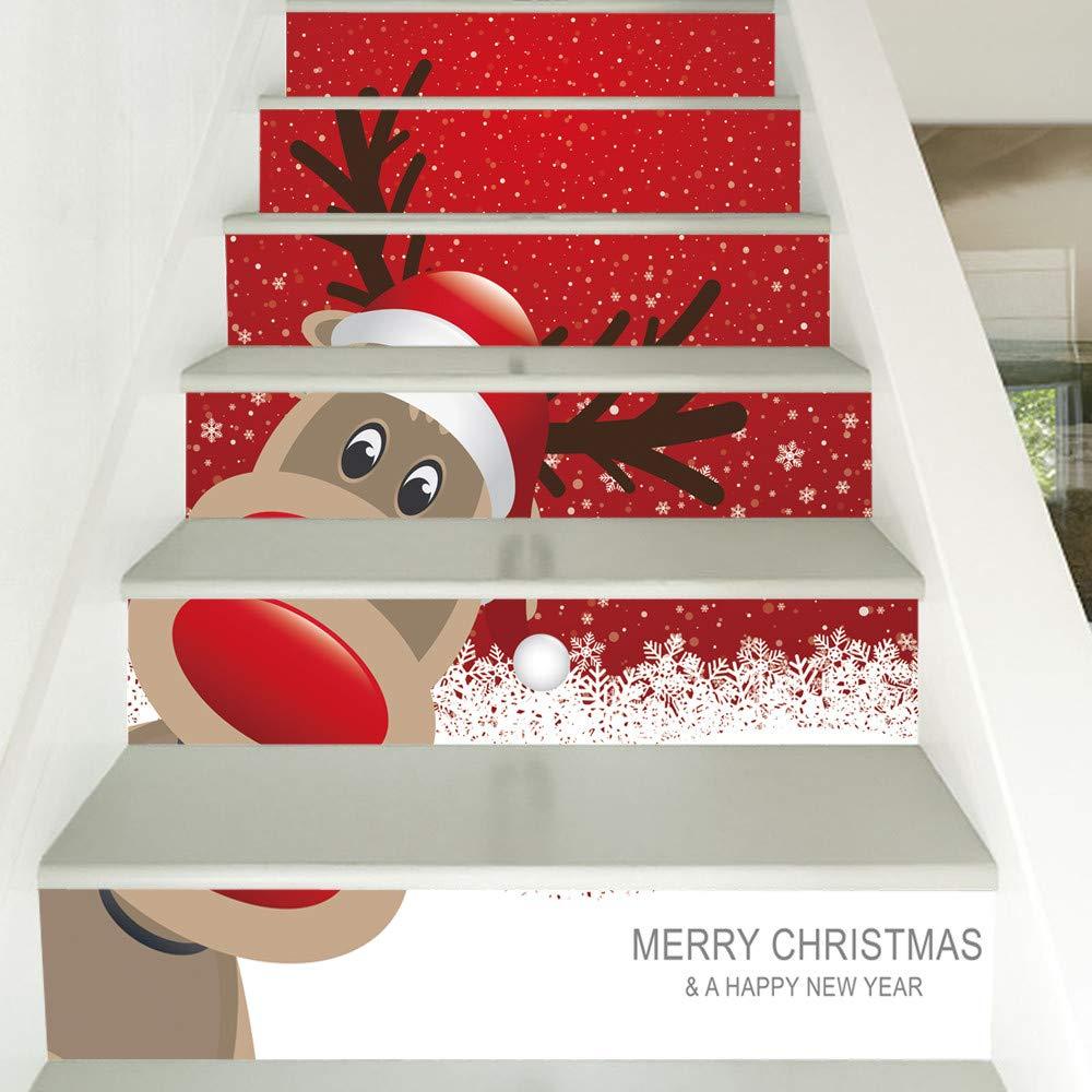 JYC-Cojines Navidad 3D Simulación Escalera Pegatinas ...