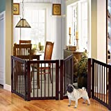 Cheap New MTN-G 30″ Configurable Folding Free Standing 4 Panel Wood Pet Dog Safety Fence w/ Gate