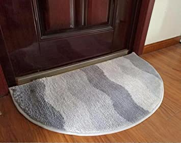 Semi Circular Shower Absorbent Mat Padded Door Mats Shower Waterproof Pads  Pads  5090cm