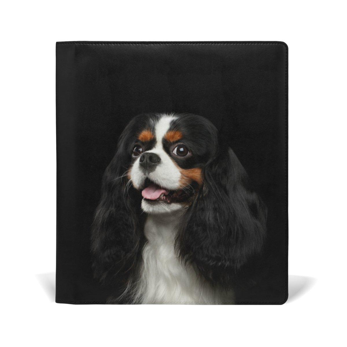 mydaily Leder, Cavalier King Charles Spaniel Hund, wiederverwendbar, mit Abdeckung, 9x 11cm, Jumbo-Größe Medium Hardcover Schulbücher von 9x 11cm