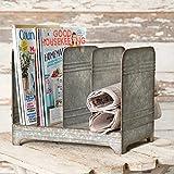Galvanized Magazine Rack-Vintage Industrial Farmhouse Chic
