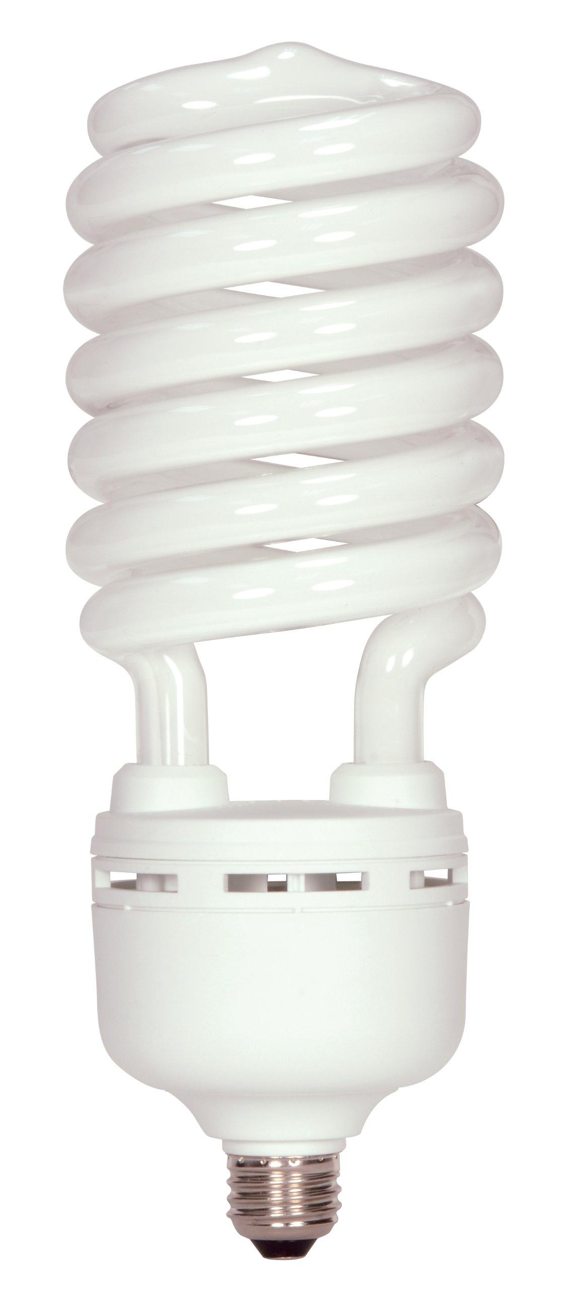 Satco S7377 105 Watt (400 Watt) 7000 Lumens Hi-Pro Spiral CFL Daylight White 5000K  Medium Base 120 Volt Light Bulb