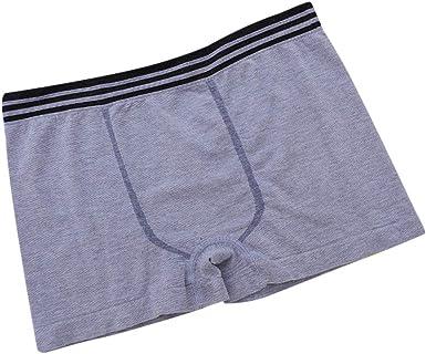 FELZ Calzoncillos Bóxer de Deporte para Hombres Calzoncillos Boxer Sólidos para Hombres Shorts Bulge Pouch Underpants Slips Hombres de 100% Algodón Transpirables (Azul, Talla única): Amazon.es: Ropa y accesorios