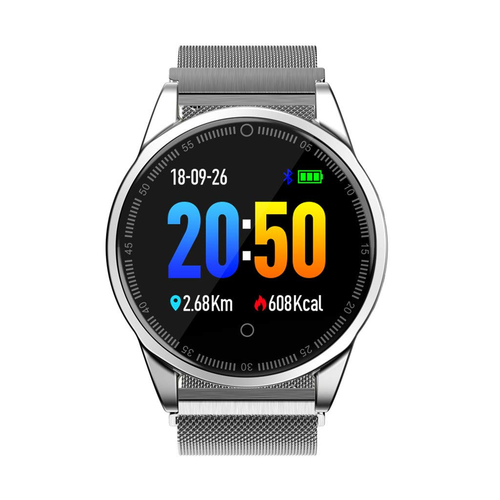 LUXISDE Fitness Bracelet Smartwatch Ladies, Activity Tracker Heart Rate Activity Pedometer Music Control Smart Bracet for Kids Men by LUXISDE (Image #4)