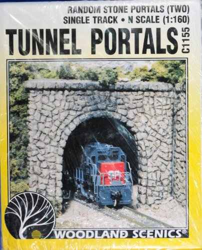 Random Stone N Scale tunnel Portals Woodland (Single Track Random Stone)