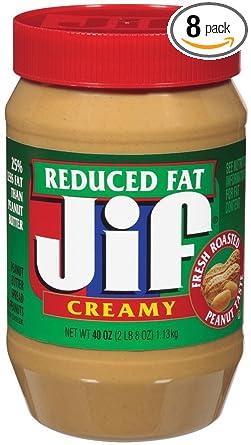 Jif reduced fat peanut butter nutritional info