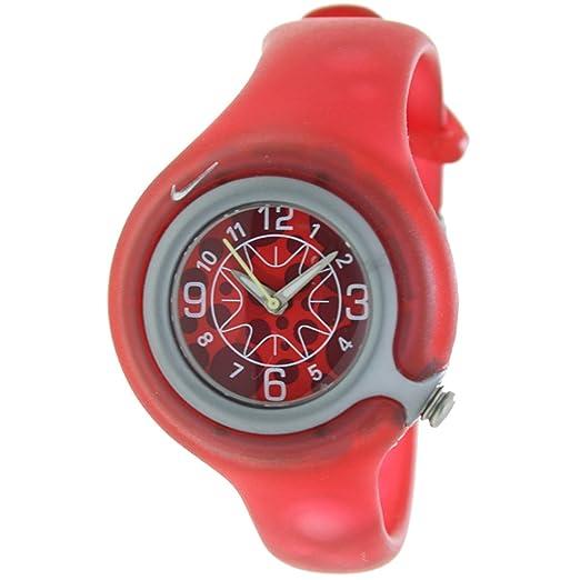 430cc2add NIKE WK0003-605 - Reloj Nike Kids SPORTWARE Reloj Analógico para Niño/a - Caucho  Color Rojo: Amazon.es: Relojes