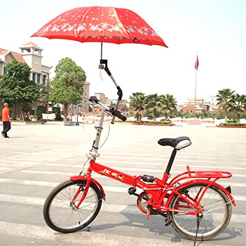 Red Sinuote/® Suitable Bike Wheelchair Stroller Chair Umbrella Connector Holder Mount Stand