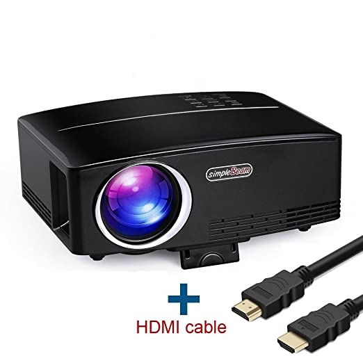 Proyector de video Full HD, HuiHeng proyector de video portátil ...