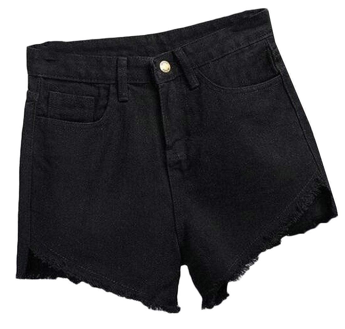 WAWAYA Womens High Waist Summer Casual Washed Cutoff Denim Shorts Jeans Shorts