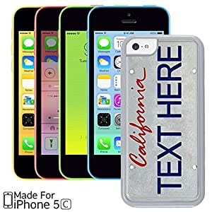Hot Buckles California License Plate Custom iPhone 5C Case (White)