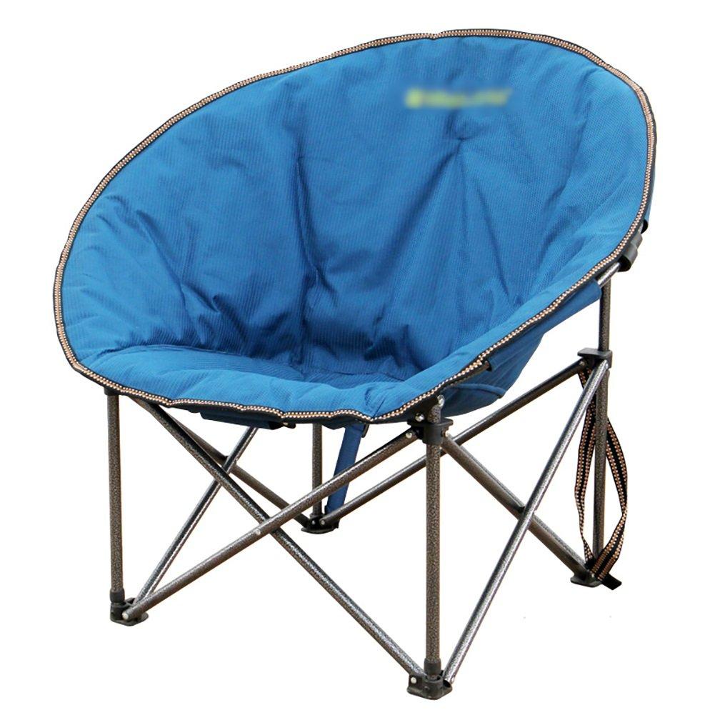WSSF- フォールディングアイアンムーンキャンプチェアポータブルラウンジチェア屋内屋外ガーデンビーチ釣りピックニクスFoldable - 負荷ベアリング100kg B07DHNH39Q 50*50*80cm Blue Blue 50*50*80cm
