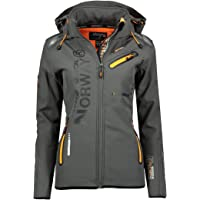 Geographical Norway REINE LADY - Chaqueta Softshell Impermeable Mujer - Chaqueta Capucha Exteriores - Chaqueta…