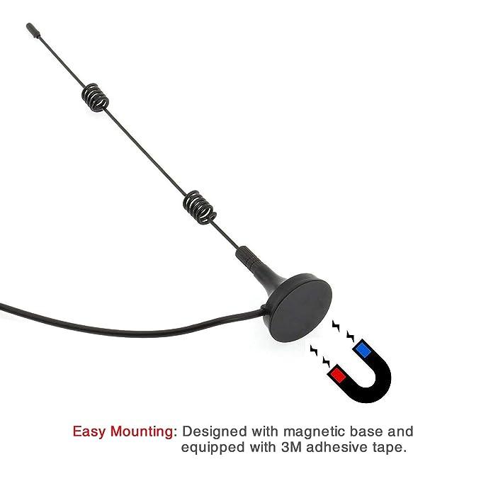 Tonton 7dBi 10FT//3M WiFi Externe Antenne mit 3m Verl/ängerungskabel f/ür /Überwachungskameras und NVR Verl/ängerungskabel Antennen mit Magnet Standfu/ß Signal Booster/f/ür Funkkamera//IP Kamera//NVR Recorder