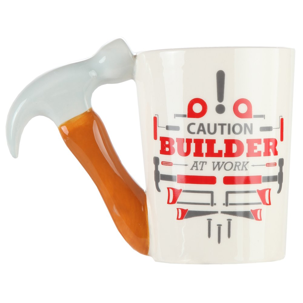 ec55913bc77 Amazon.com: Hammer Handle Ceramic Coffee Mug. Novelty Coffee Mug with Tool  Handle for DIY Enthusiasts, Contractors, Woodworkers, Carpenters &  Electricians ...