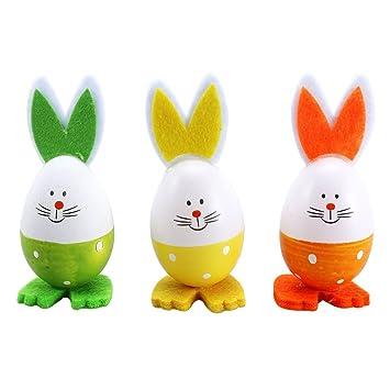 Luoem Kaninchen Ostern Eier Aufsteller Tabletop Dekoration 3