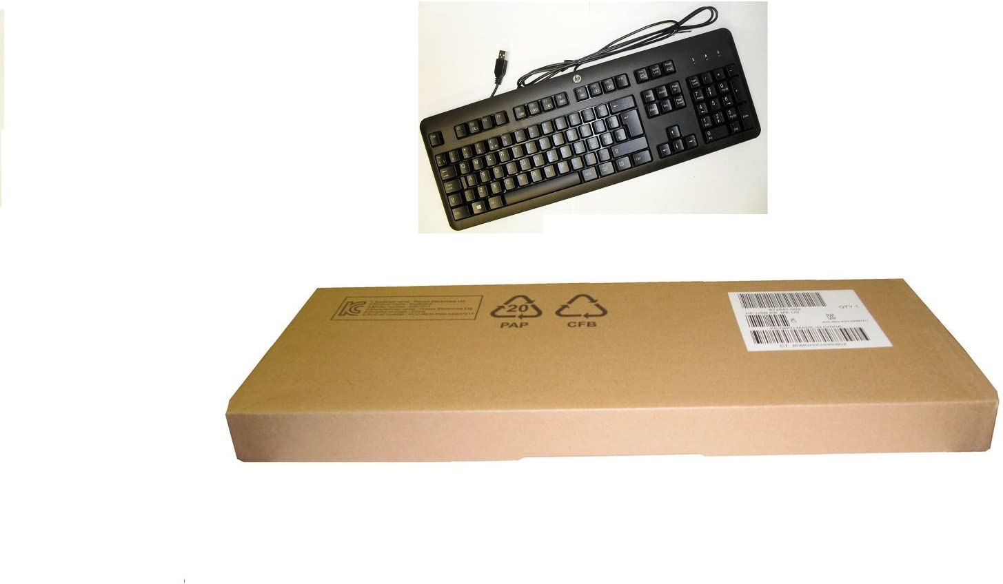 HP Black Keyboard KU-1156 PN 672647-002