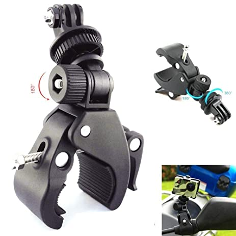 Vvhooy Motorcycle Bicycle Bike Camera Handlebar Clamp
