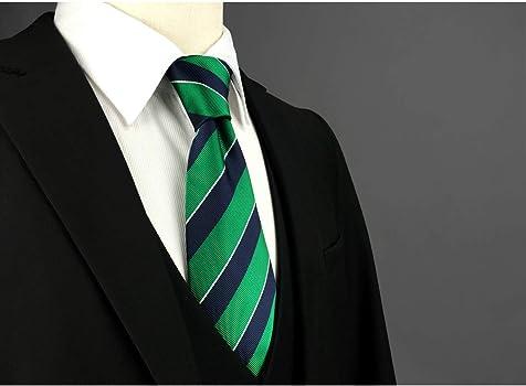 Shlax&Wing Nuevo Traje De Negocios Hombre Seda Corbatas Para Verde ...