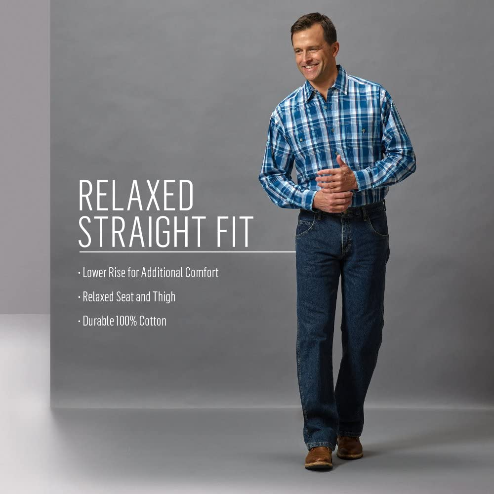 Wrangler Men's Rugged Wear Relaxed Straight-Fit Jean Union