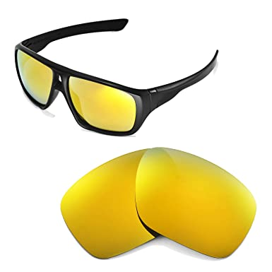 7eccdf2ce7 Walleva Replacement Lenses for Oakley Dispatch Sunglasses -Multiple Options  (24K Gold Mirror Coated - Polarized)  Amazon.co.uk  Clothing