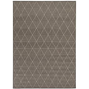 Ottomanson Jardin Collection Contemporary Trellis Design Indoor/Outdoor  Jute Backing Area Synthetic Sisal Rug,