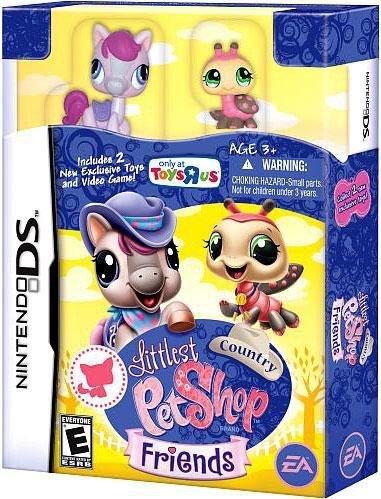 Nintendo DS Littlest Pet Shop & Friends Video Game Country Bundle [Includes Pony & Ladybug]