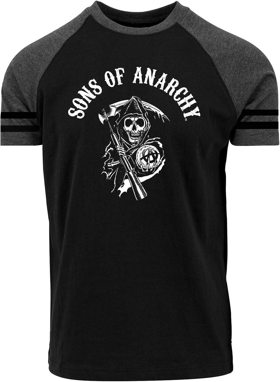 Sons of Anarchy Reaper Raglan T-shirt zwart/grijs gemêleerd