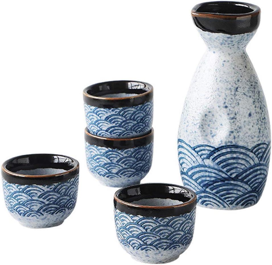 Conjunto de saquê japonês de cerâmica Hemoton