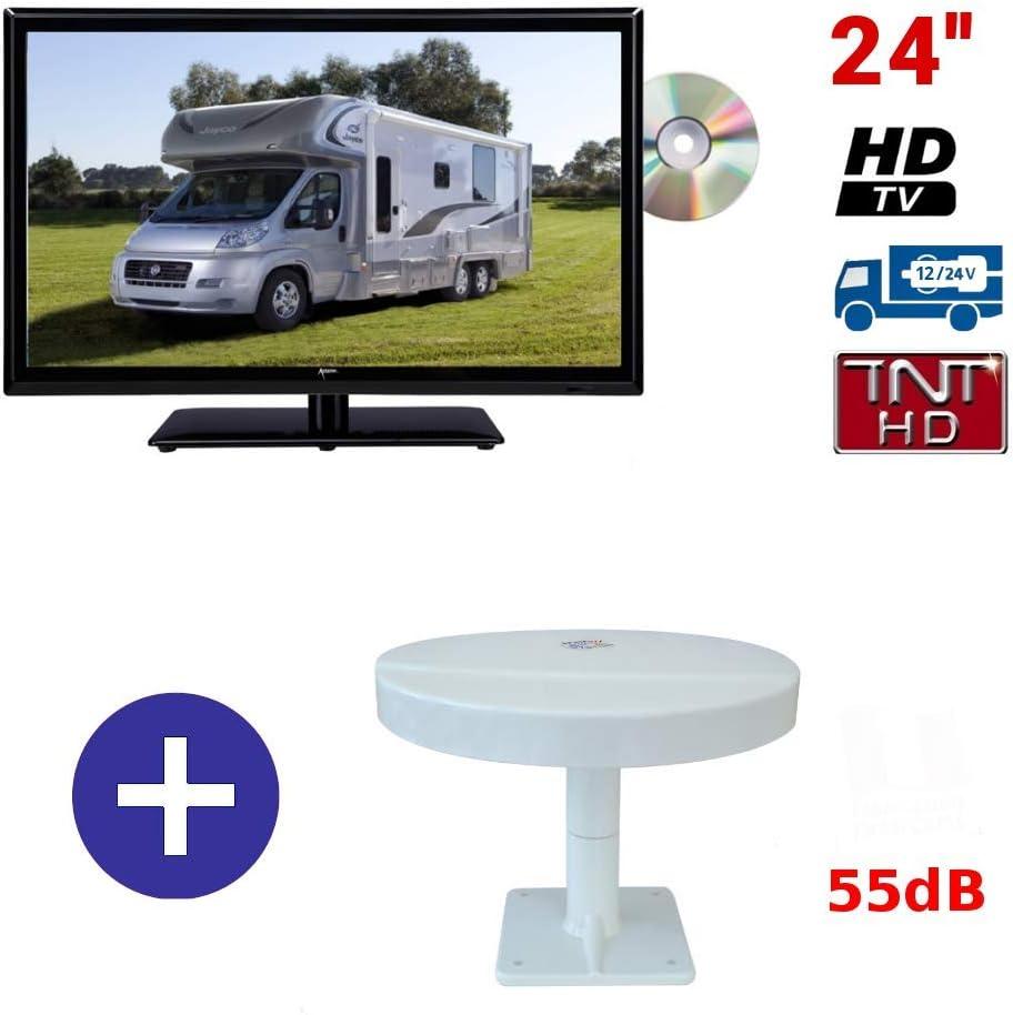 ATV + mobiletv – Pantalla TV televisor atvdvd24hda + Antena ...