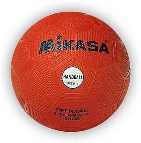 MIKASA 4008 - Balón de Balonmano, Color Naranja, Talla 1: Amazon ...