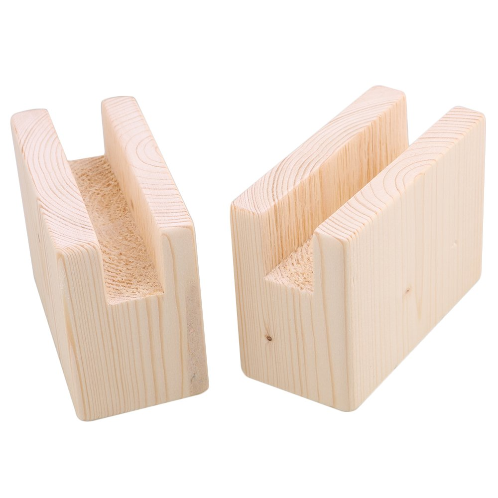 BQLZR 10x5x7.5cm Wood Table Desk Bed Risers Lift Furniture Lifter Storage for 2CM Groove Feet Up to 5CM Lift Pack of 2 by BQLZR (Image #2)
