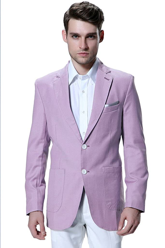 CMDC Men's Two Buttons Business Outwear Popular Wool Blazer Suit More ColorM10 M10A01