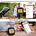 Grill Thermometer Digital Cooking Bluetooth Wireless BBQ Thermometer with 6 Probes for Smoker Oven and Kitchen