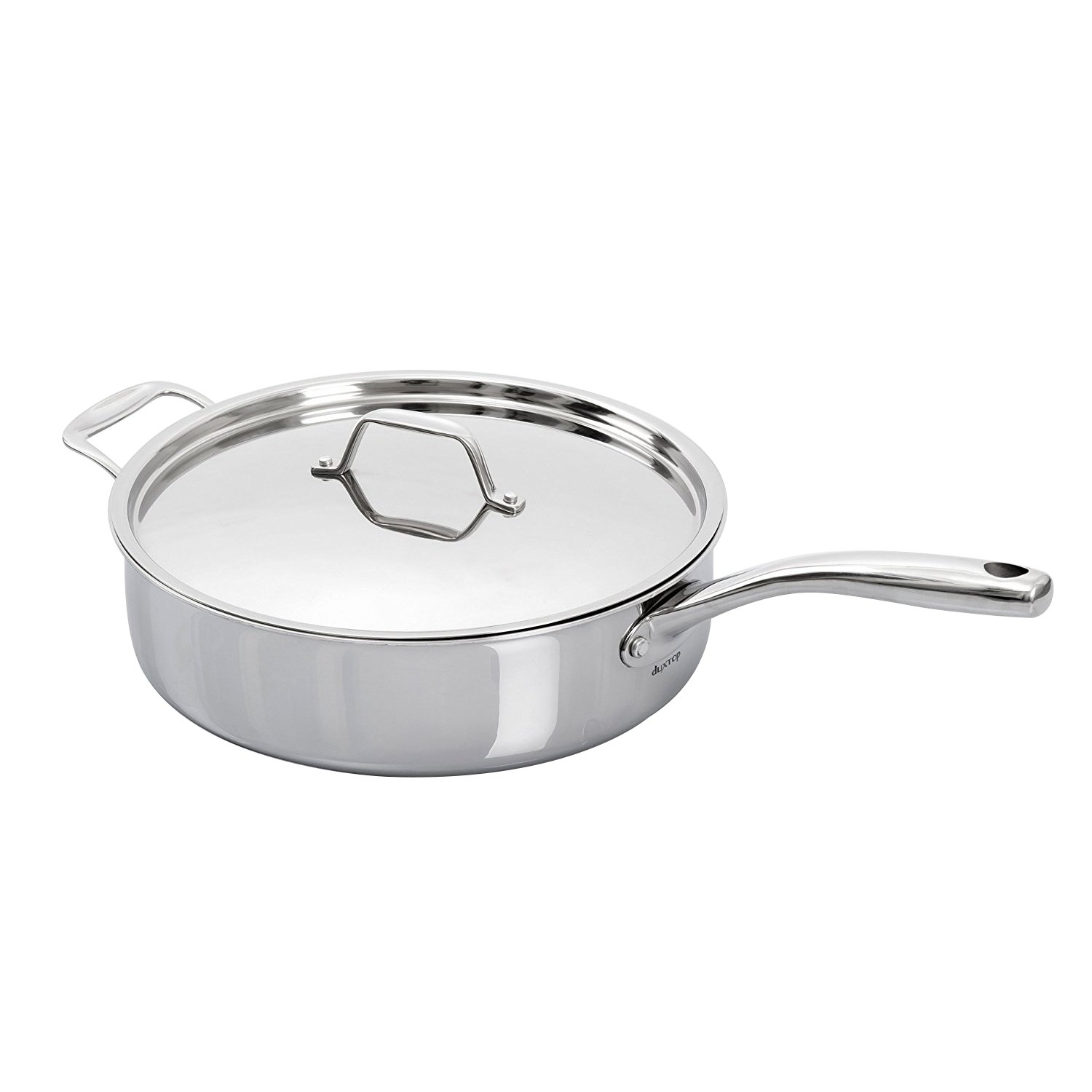 Secura Duxtop Whole-Clad Tri-Ply Stainless Steel Induction Ready Premium Cookware with Lid, 3Qt Saute Pan by Secura