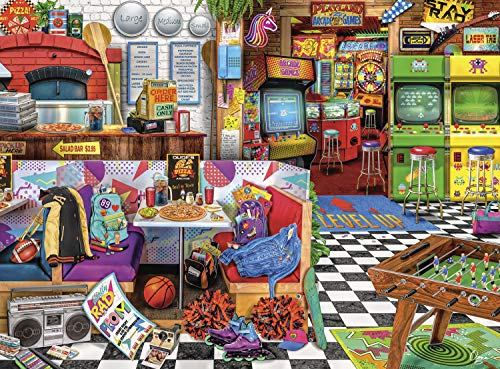 Buffalo Games – Aimee Stewart – Pixels and Pizza – 1000 Piece Jigsaw Puzzle