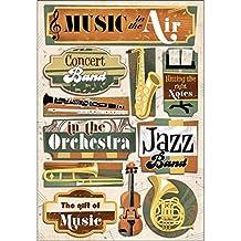 Karen Foster Cardstock Stickers-Music Is In The Air