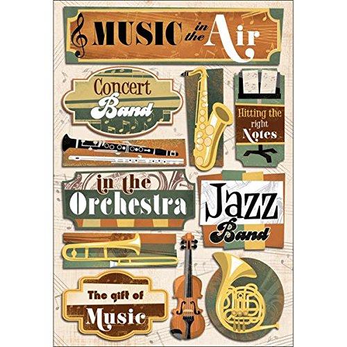 Karen Foster Design Acid and Lignin Free Scrapbooking Sticker Sheet, Music in The Air