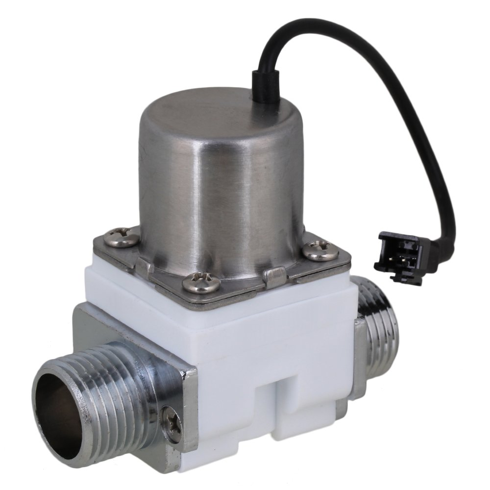 Yibuy White DC6V 1/2'' Electric Solenoid Valve Water Flow Pulse Control Switch
