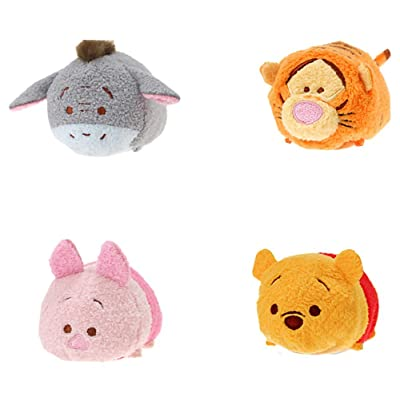 Disney Winnie the Pooh and Pals ''Tsum Tsum'' Plush - Mini - 3 1/2'' Tigger, Piglet, Pooh, and Eeyore: Toys & Games