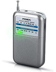 PRUNUS DEGEN-DE333 Mini Transistor Radio Portable de Poche FM/AM(MW), Excellente Réception, Bouton de Réglage avec Indicateur de Signal. Compatible avec Piles Amovibles (AAA)