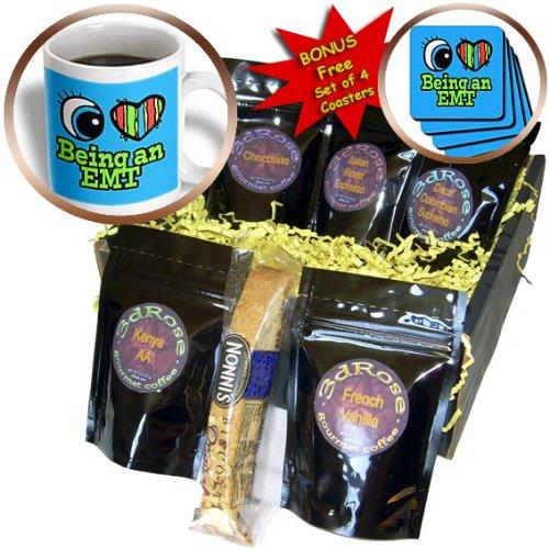 Dooni Designs Eye Heart I Love Designs - Bright Eye Heart I Love Being an EMT - Coffee Gift Baskets - Coffee Gift Basket ()