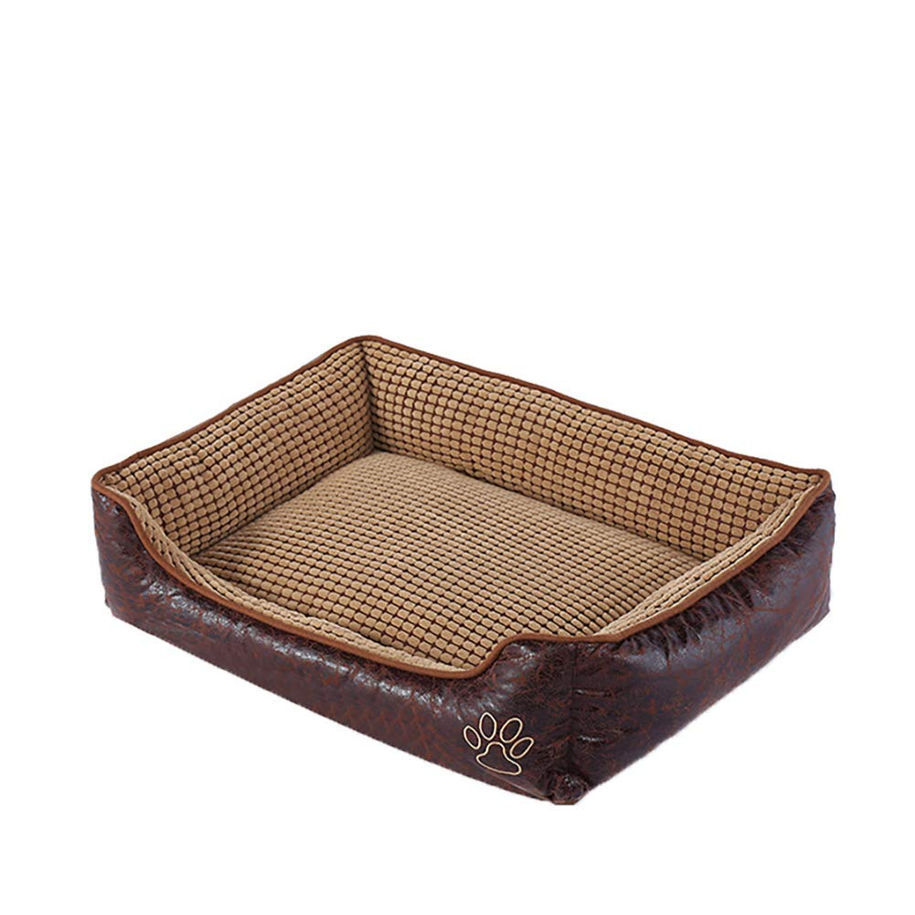 90×70×22cm JIAOXM Pet Bed for Cats and Dogs,Ultra-Soft Warm Paw Print Pet Bed Sofa Water Resistant with Removable & Washable Cover,90×70×22cm
