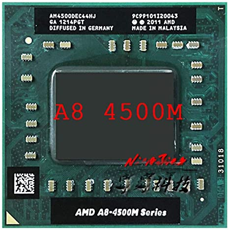Amazon Com Amd A8 Series A8 4500m A8 4500m 1 9 Ghz Quad Core Quad Thread Cpu Processor Am4500dec44hj Socket Fs1 Procesador Computers Accessories