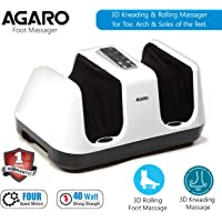 Agaro Relaxing Square Foot Massager for Pain Relief (White)