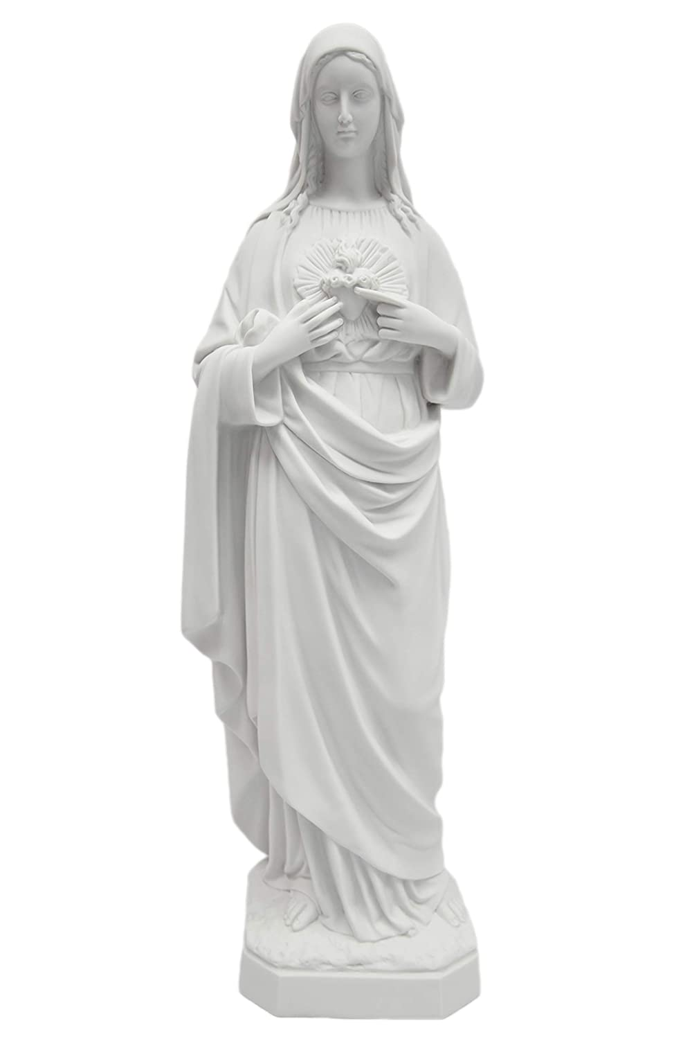 """25"""" Immaculate Heart of Mary Italian Catholic Religious Statue Sculpture Made in Italy Indoor Outdoor Garden"""