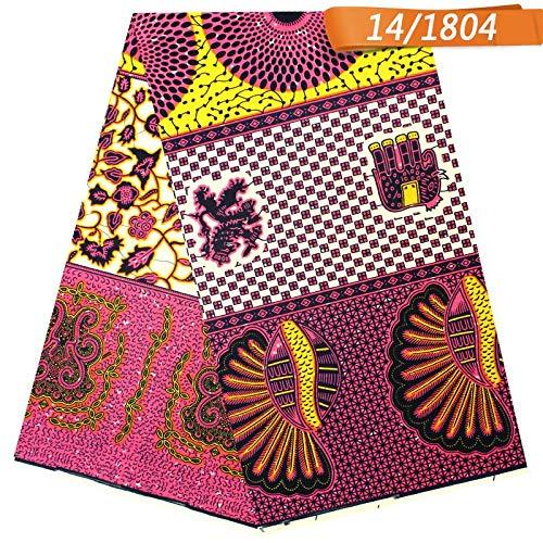 Wax  Print Fabric Ankara 5.5 Yards