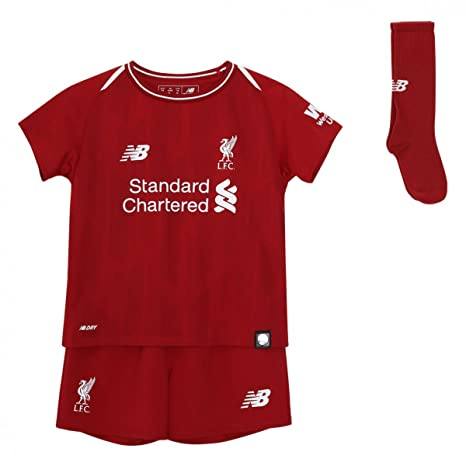 8f5238d9c17e1 New Balance Liverpool FC Collection 2018/2019 Home Kit Red Polyester Infant  Soccer Kit Available