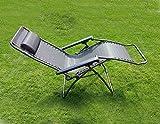 HTUK Textoline Folding Bed Sunlounger Garden Lounger Recliner Sun Bed Folding Relaxer Chair